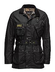 B.Intl Slim International Wax Jacket - BLACK
