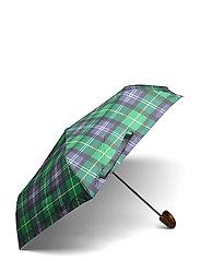 Barbour Tartan Mini Umbrella - SEAWEED TARTAN