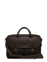 Barbour Wax Lth Briefcase - OLIVE