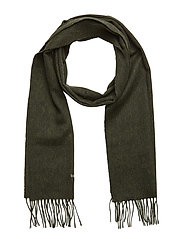 Plain Lambswool Scarf - GREEN