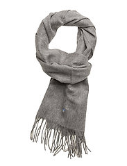 Plain Lambswool Scarf - GREY