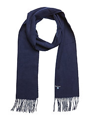 Plain Lambswool Scarf - NAVY