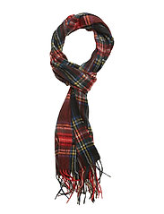 New Check Tartan Scarf - BLACK STEWART
