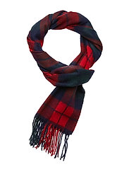 New Check Tartan Scarf - BRIGHT RED