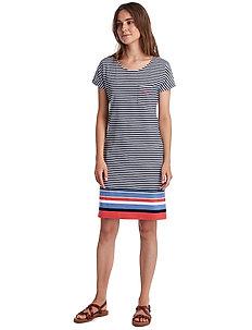 Barbour Hwd Stri Dress - midiklänningar - navy