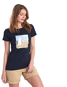 Barbour Orla Tee - t-shirts med tryck - navy