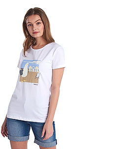 Barbour Orla Tee - t-shirts med tryck - white