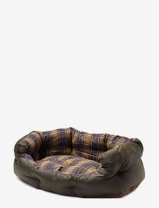 Waxed/Cotton Dog Bed 35in - hundesenge - classic/olive