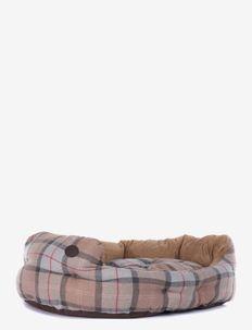 Luxury Dog Bed 35 - koiran pedit - taupe/pink tart