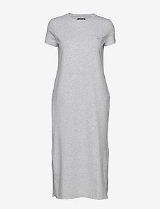 B.Intl Spitfire Dress - midi kjoler - pale grey marl