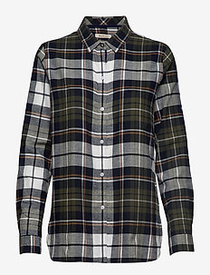 Barbour Moors Shirt - OLIVE/NAVY