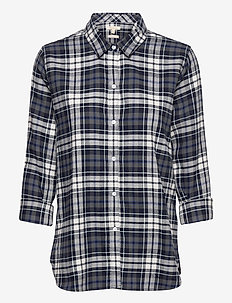 Barbour Moors Shirt - langærmede skjorter - navy check