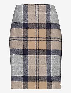Nebit Pencil Skirt - midinederdele - oatmeal tartan