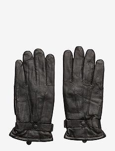 Burnished Lth Thinsulate Glv - BLACK
