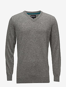 Essential Lambswool V Neck - GREY