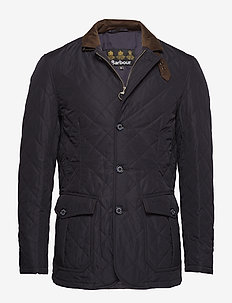 Quilted Lutz - quilted - navy/ecru beaco