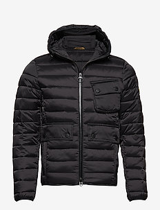 B.Intl Ouston Hooded Quilt (SL) - BLACK