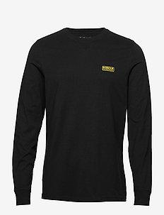 B.Intl L/S Logo Tee - langermede t-skjorter - black