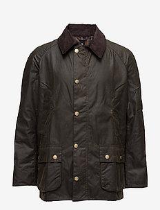 Barbour Ashby Wax Jacket - DK OLIVE