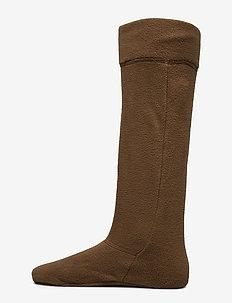 Fleece Wellington Sock - OLIVE HERRINGBO