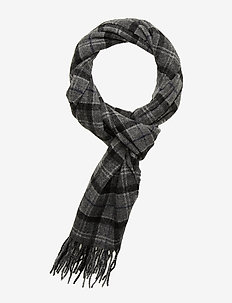 Tartan Lambswool Scarf - BLACK/GREY TART