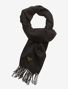Plain Lambswool Scarf - BLACK