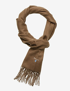 Plain Lambswool Scarf - FOSSIL