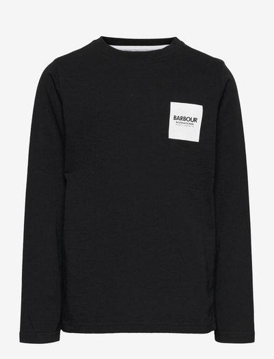B.Intl Boys Box Logo L/S Tee - langærmede t-shirts - black