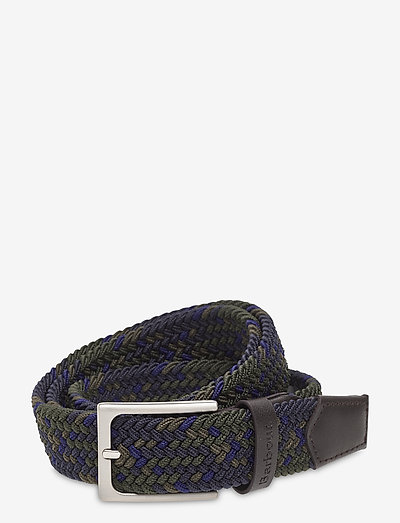 Barbour Trtn Ford Belt - flettede bælter - sage tartan
