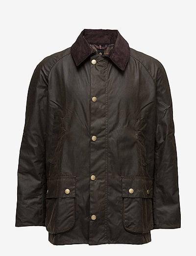 Barbour Ashby Wax Jacket - tunna jackor - dk olive
