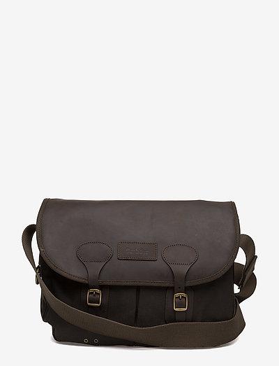 Barbour Wax Leather Tarras - väskor - olive