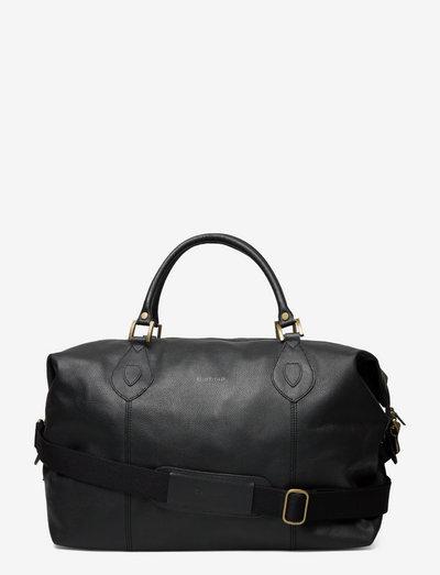 Barbour Leather Medium Travel Explorer - väskor - black