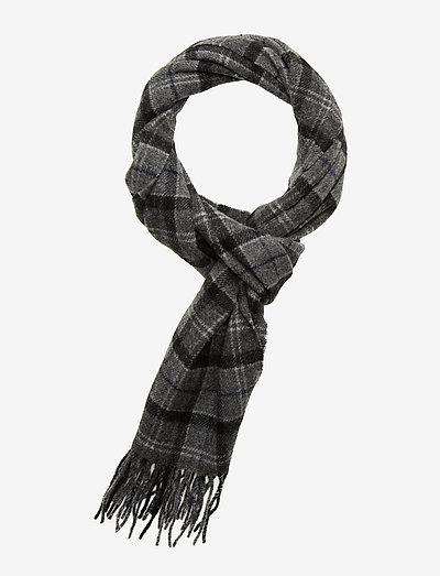 Tartan Lambswool Scarf - halstørklæder - black/grey tart