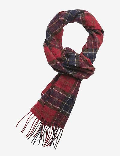 Tartan Lambswool Scarf - halstørklæder - red tartan