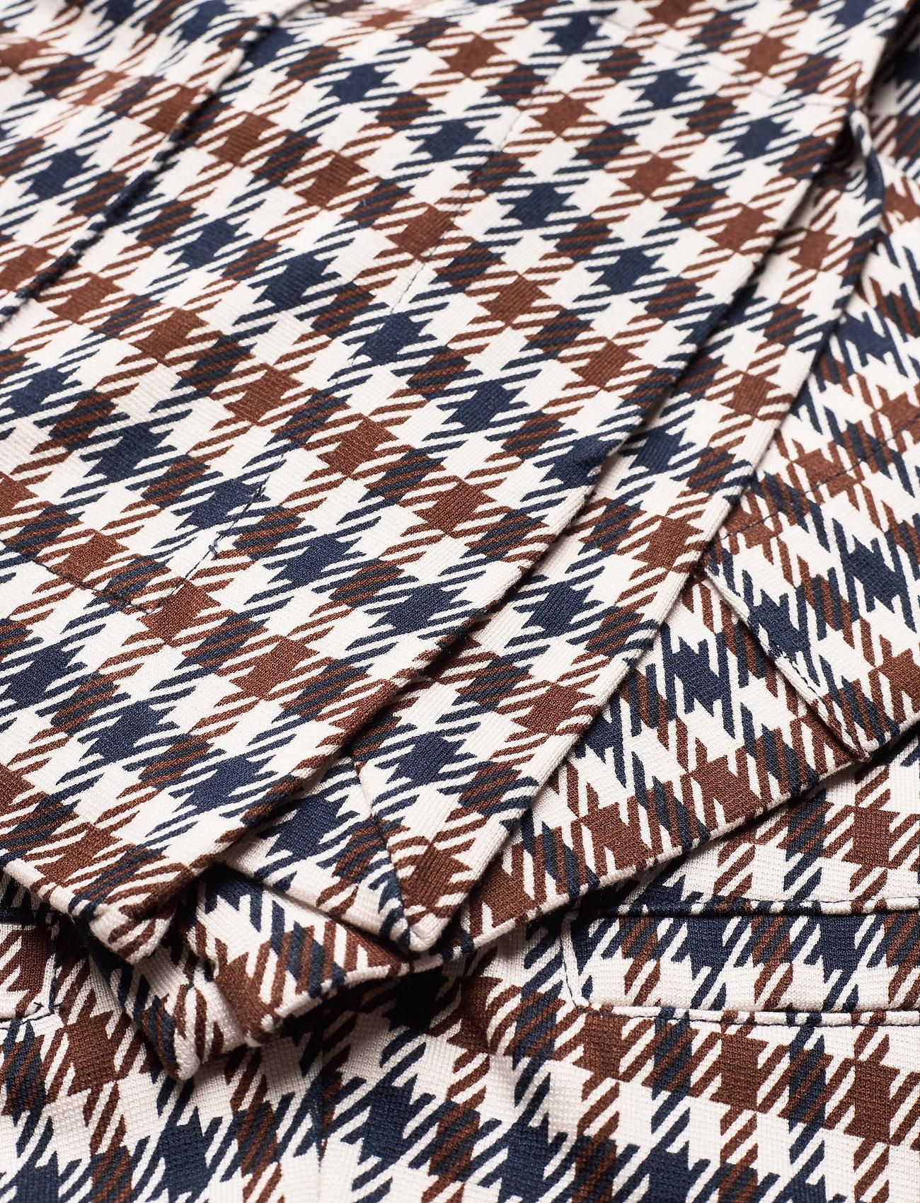Baum und Pferdgarten JONI - Spodnie BROWN BLUE HOUNDSTOOTH - Kobiety Odzież.