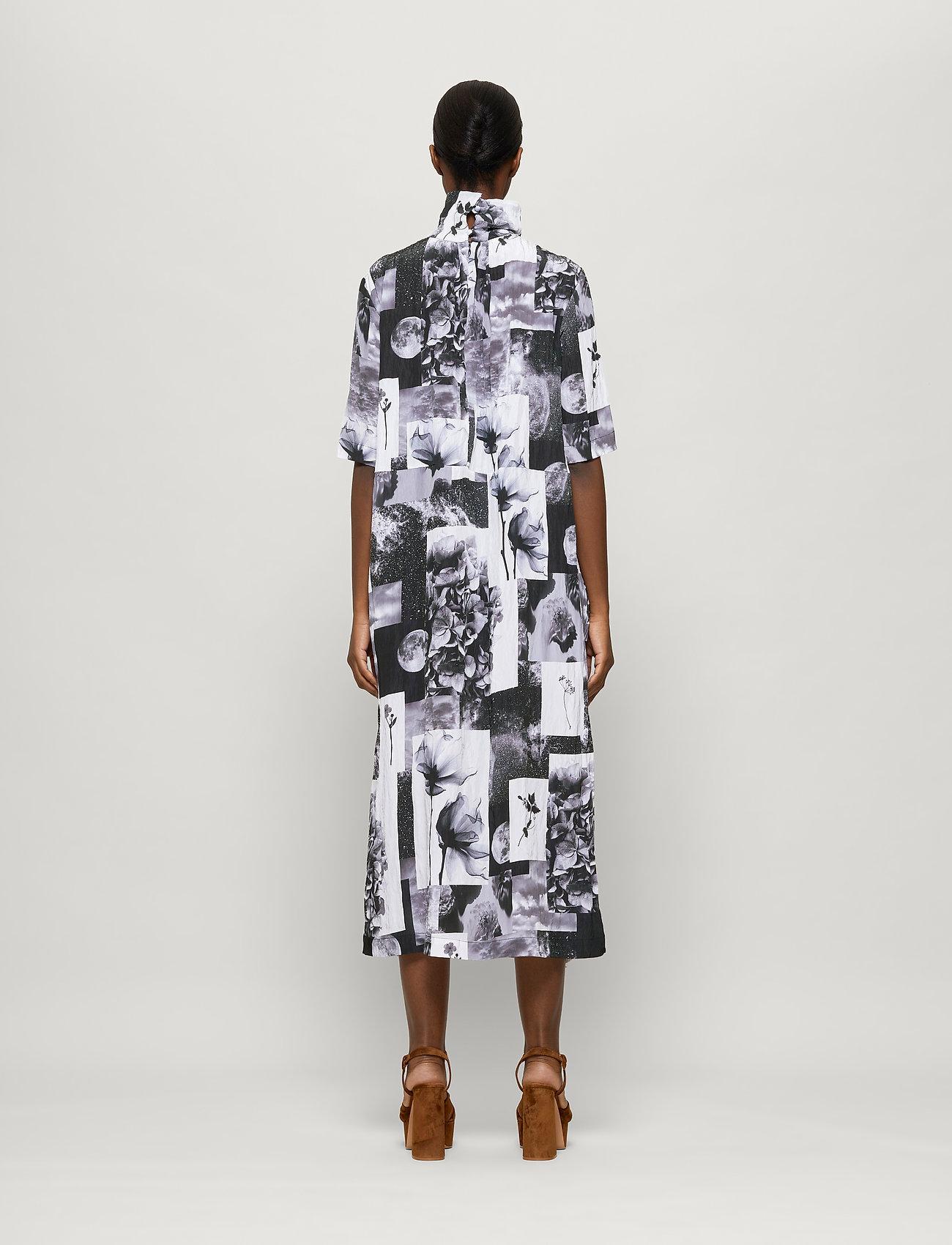 Baum und Pferdgarten - ANGIE - maxi dresses - black floral collage - 3