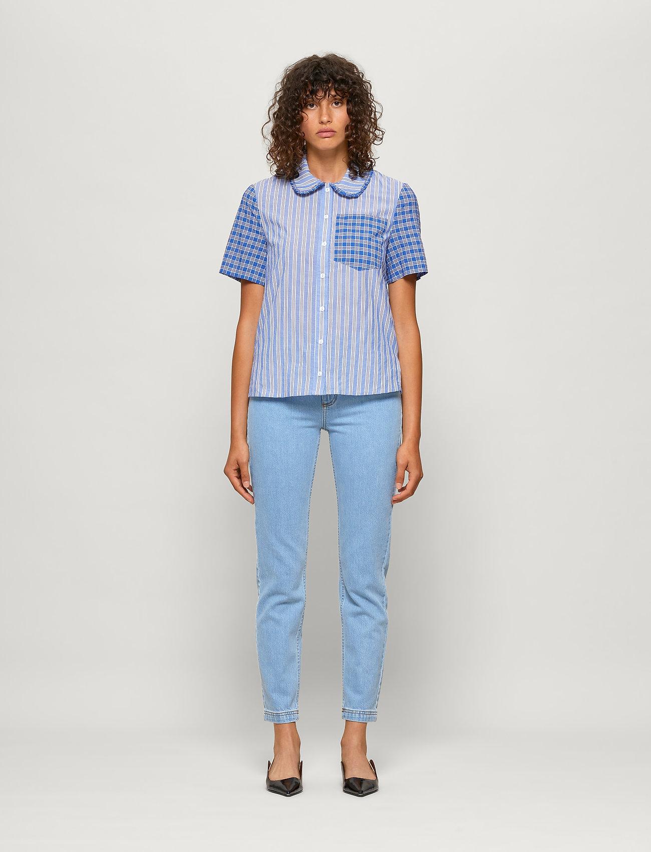 Baum und Pferdgarten - MIZZI - kortärmade skjortor - blue mix - 0