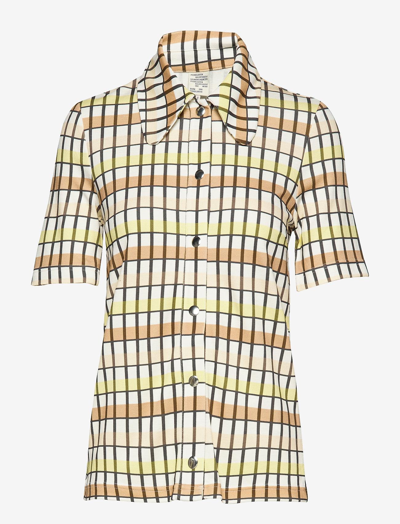 Baum und Pferdgarten - JOEY - blouses à manches courtes - yellow peach check - 0