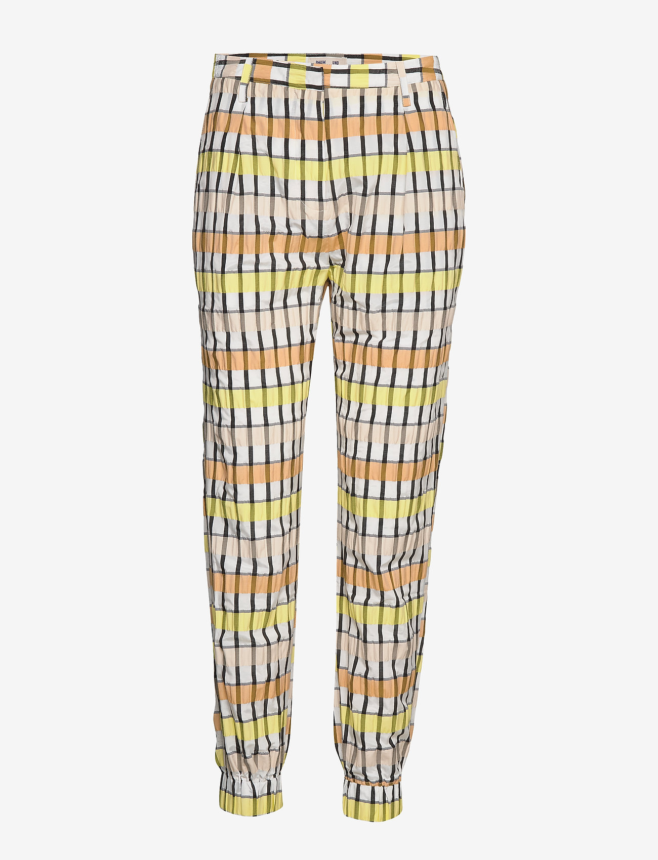 Baum und Pferdgarten - NEMA - casual trousers - peachyellowblack check - 1