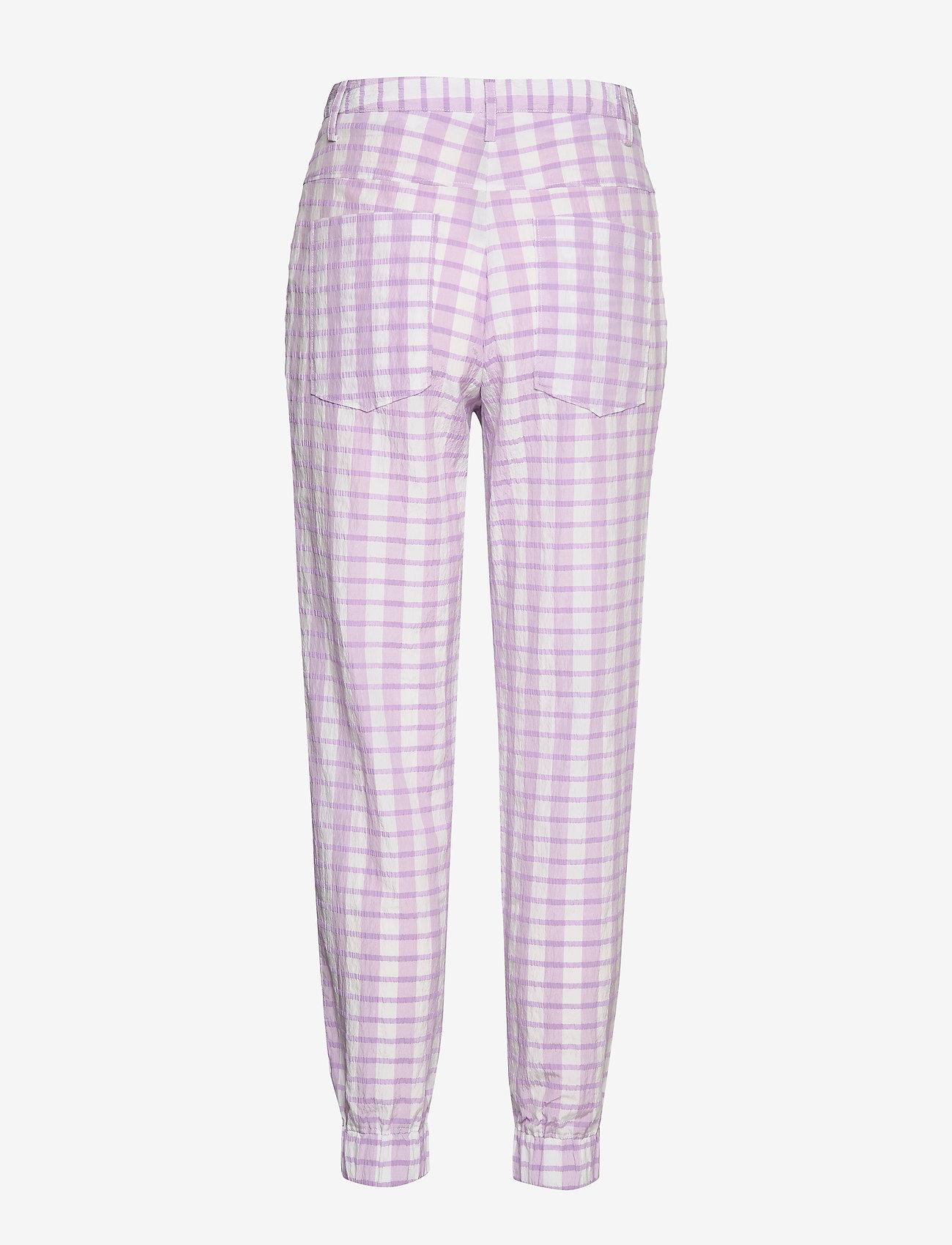 Baum und Pferdgarten - NEMA - casual trousers - creamy lilac check - 1