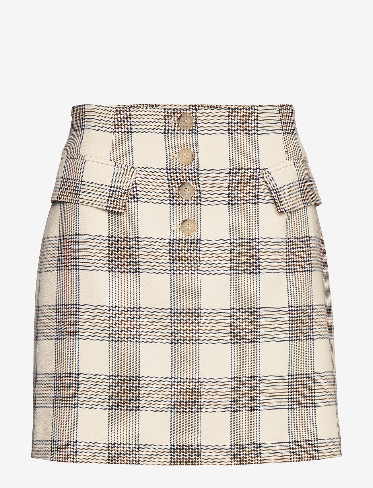 Baum und Pferdgarten - SHANI - korte nederdele - creamnavybrown checks - 0