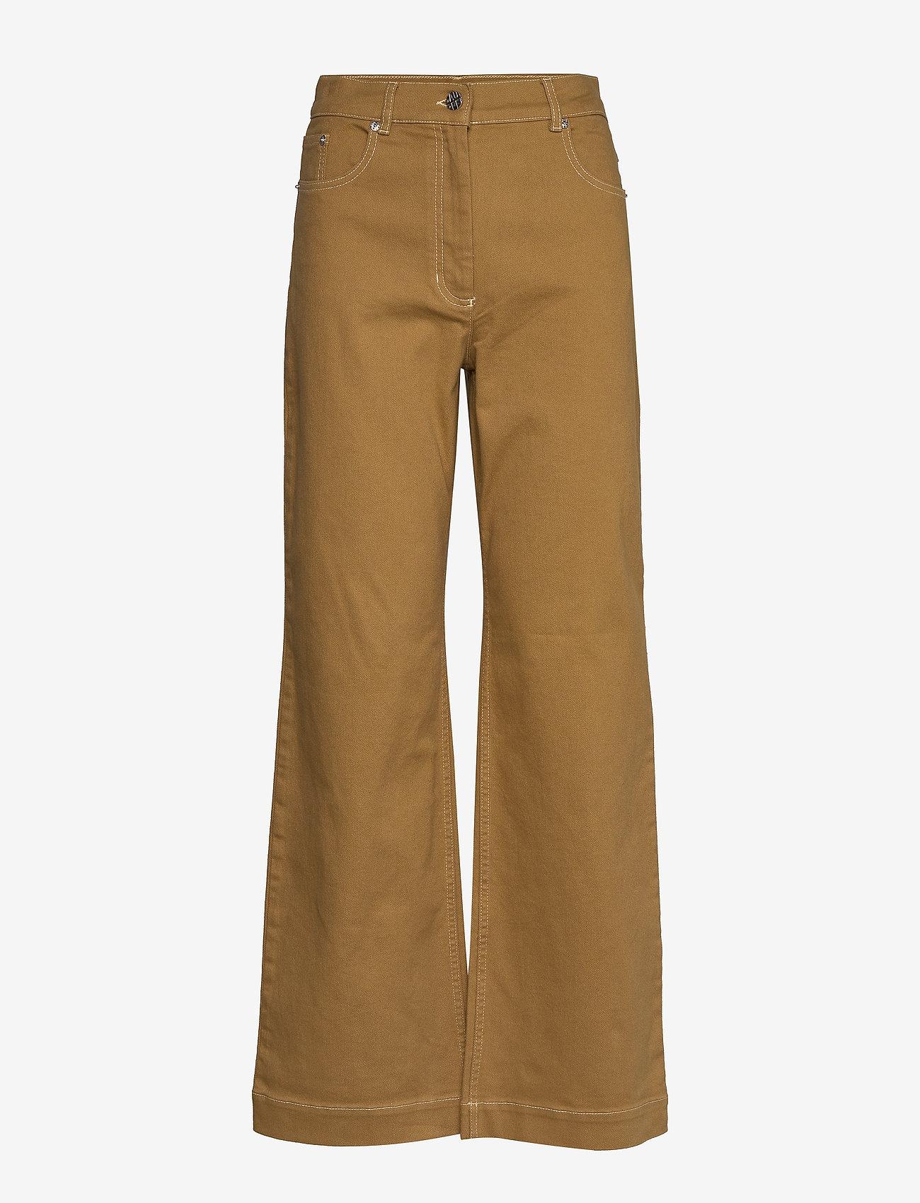 Baum und Pferdgarten - NIKKA - broeken met wijde pijpen - dijon brown - 1