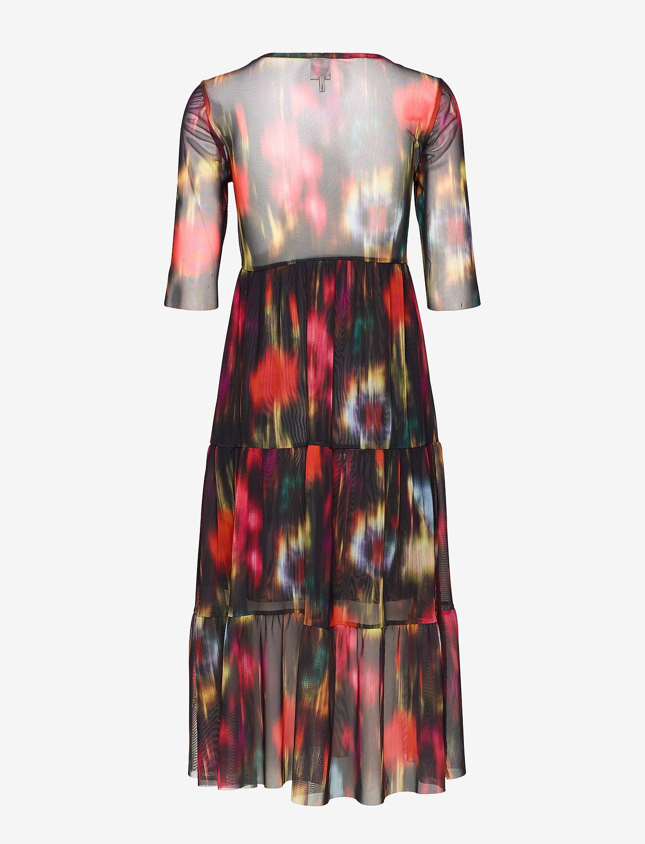 Baum und Pferdgarten - JONES - do kolan & midi sukienki - black floral blur