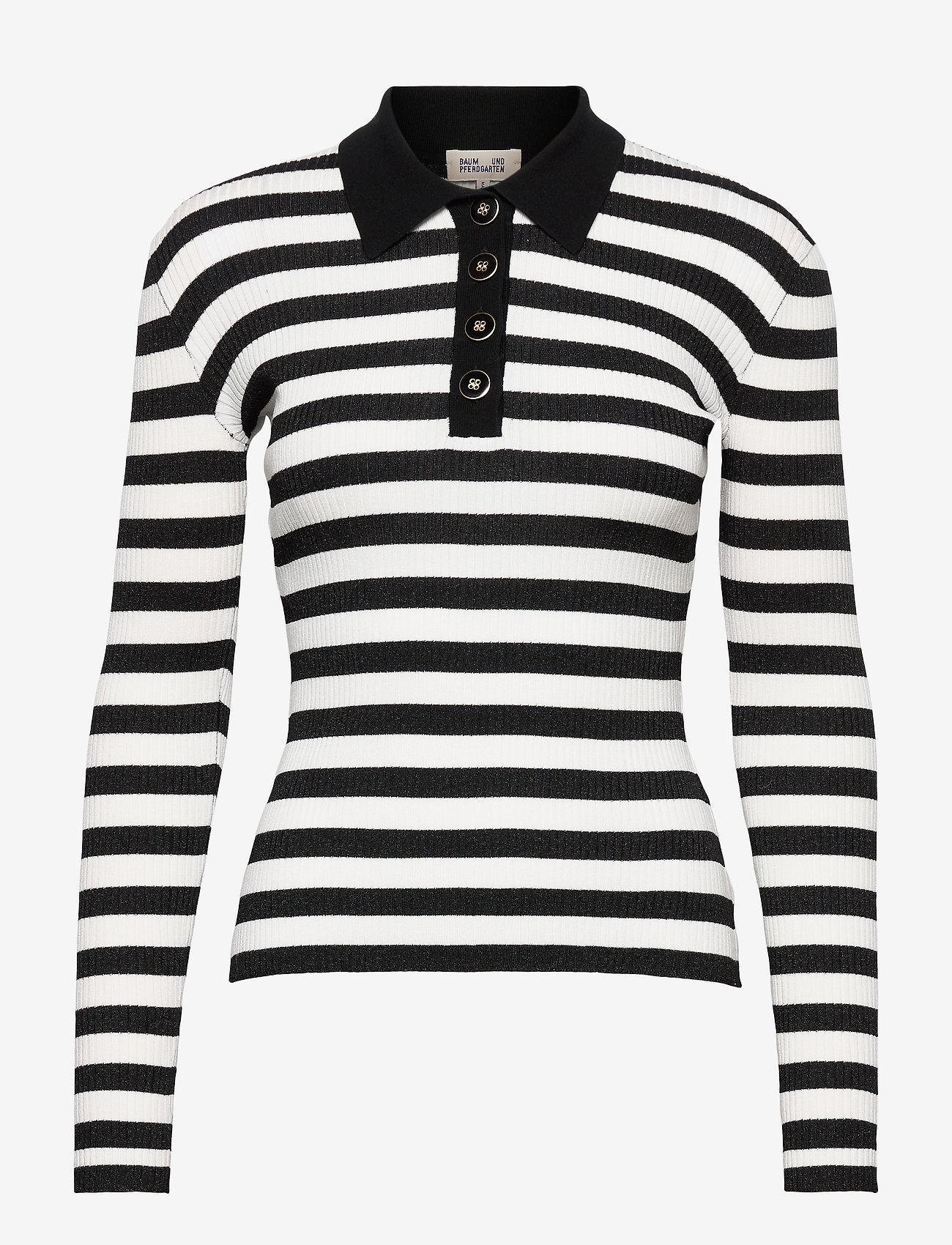 Baum und Pferdgarten - CHARLEE - polohemden - cream black stripe - 1