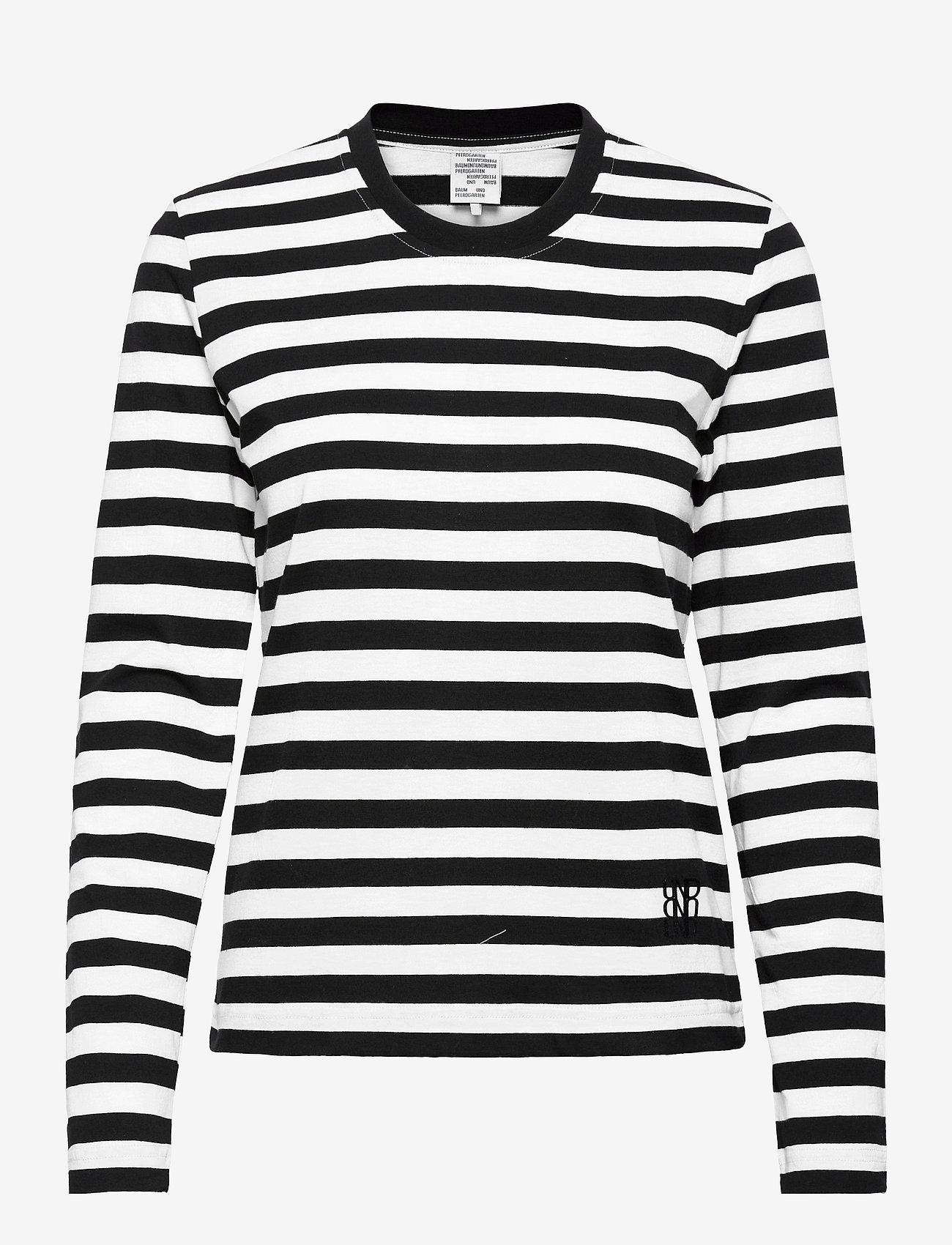 Baum und Pferdgarten - JOEANA - långärmade toppar - black and white stripe - 0