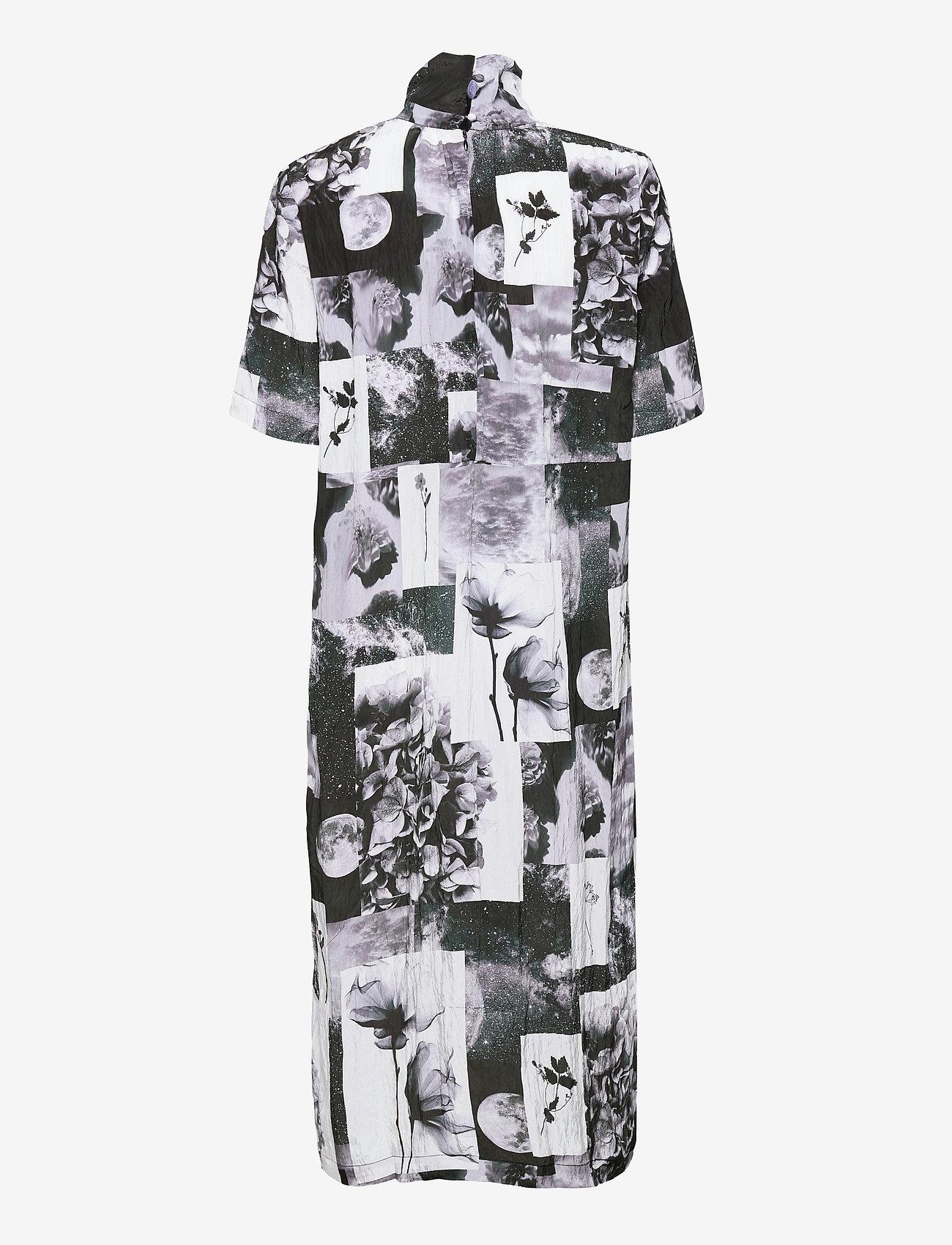 Baum und Pferdgarten - ANGIE - maxi dresses - black floral collage - 2