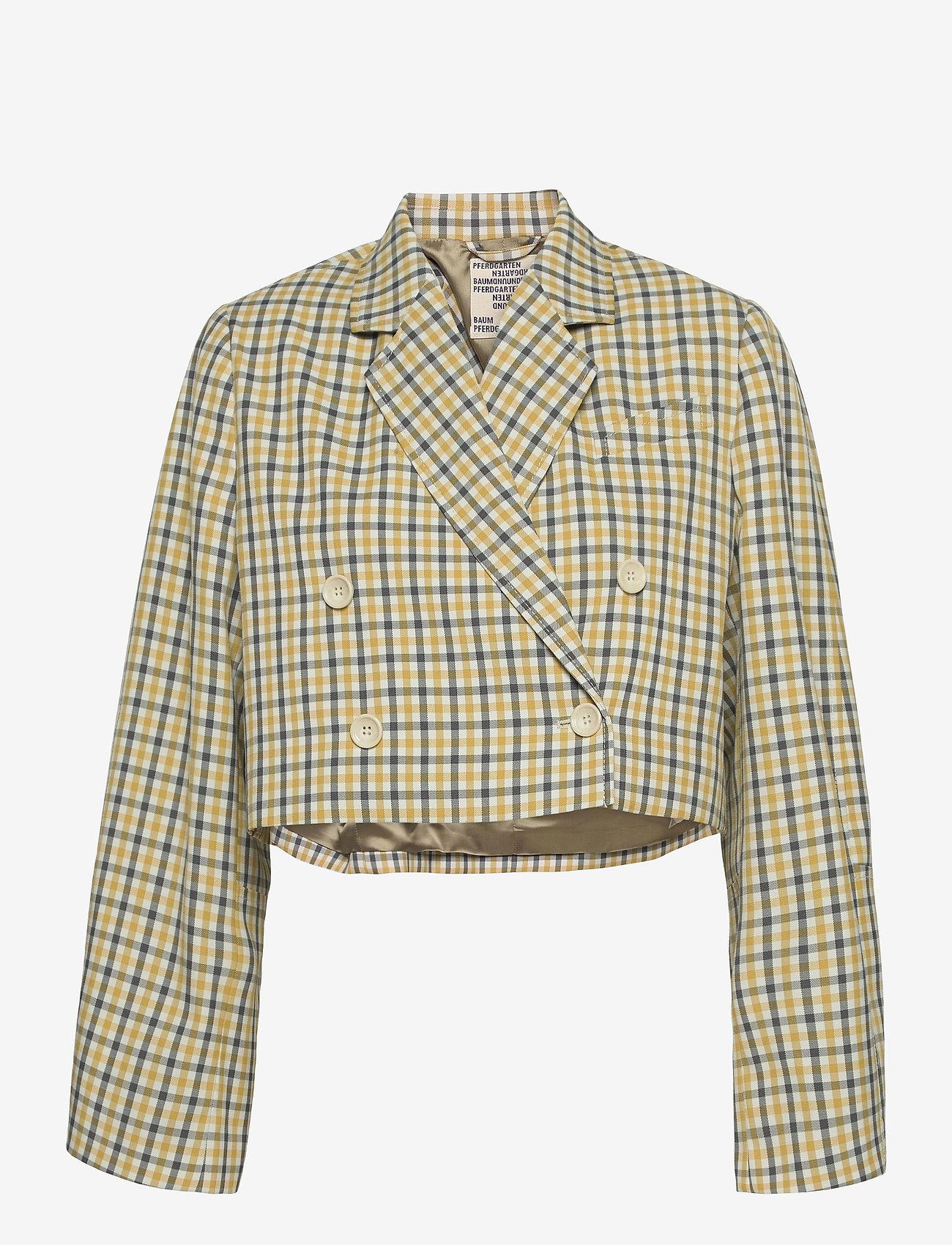 Baum und Pferdgarten - BIANKA - casual blazere - mustard check - 1