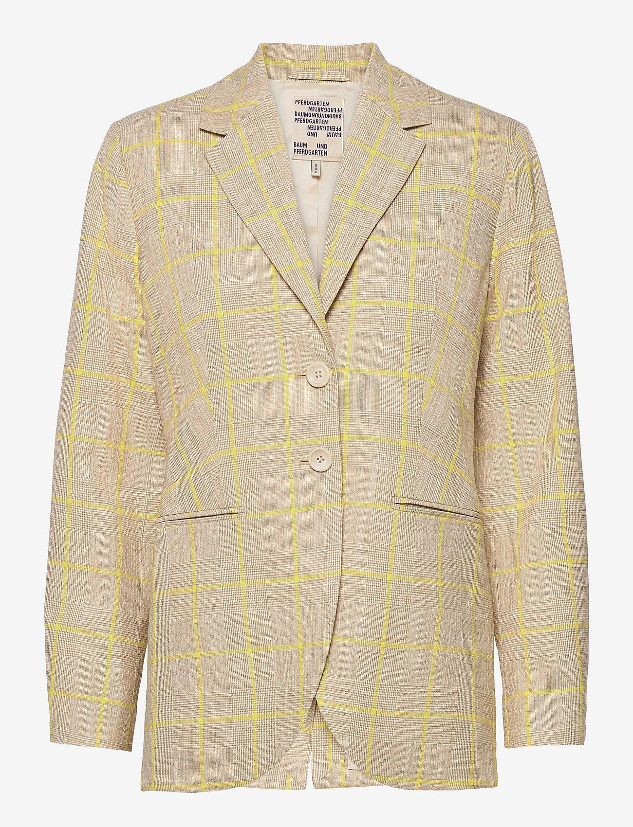 Baum und Pferdgarten - BRYONY - casual blazere - rio yellow check - 0