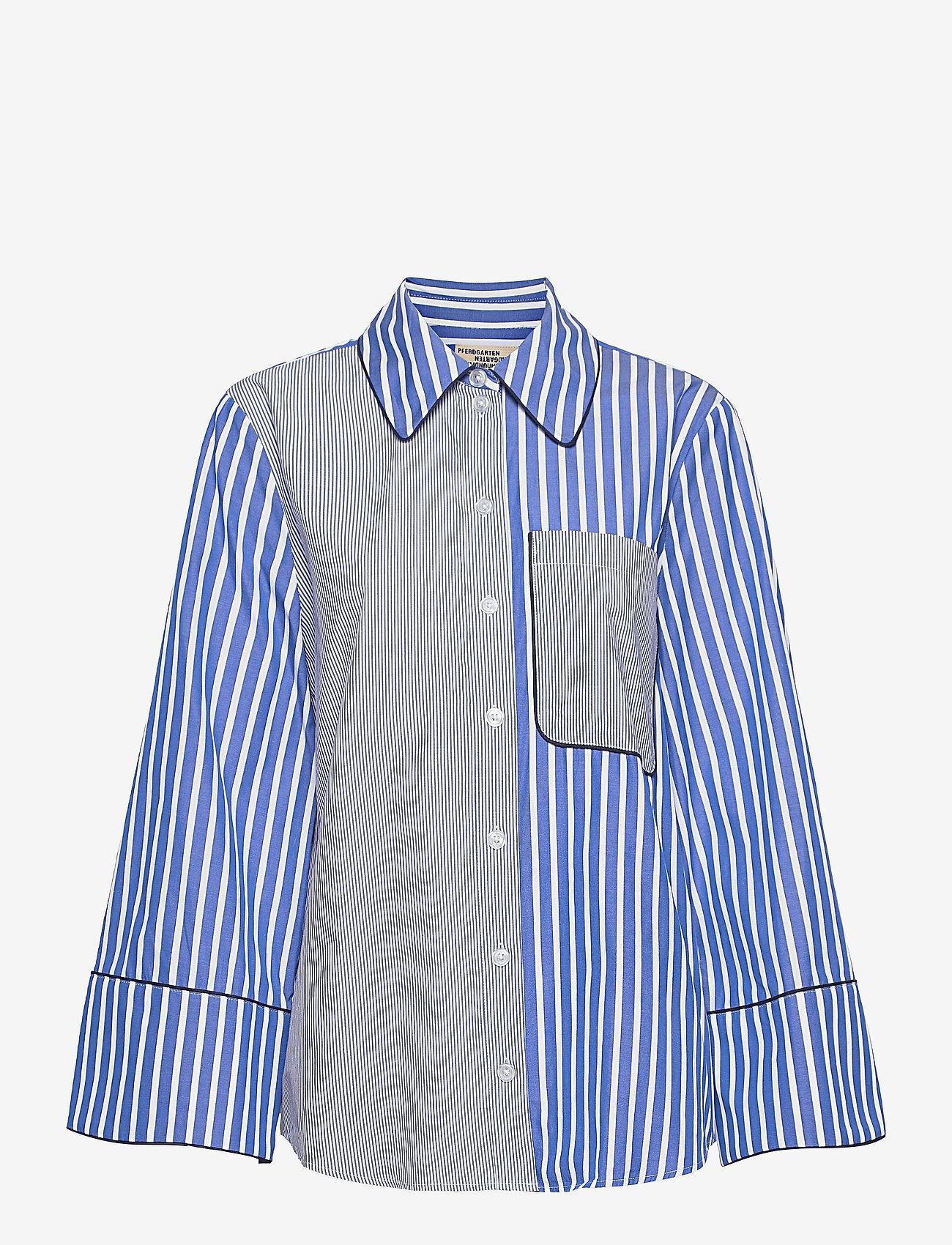 Baum und Pferdgarten - METTIE - jeansblouses - blue folk stripe - 1
