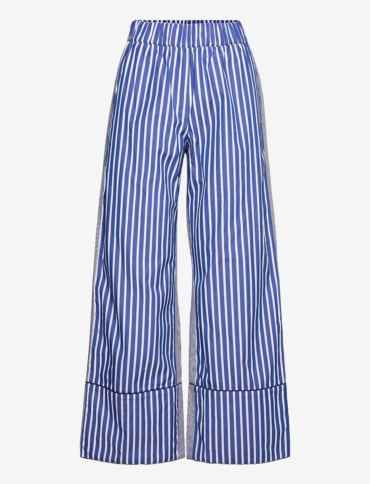 Baum und Pferdgarten - NALA - bukser med brede ben - blue folk stripe - 0